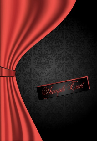red curtains: Red Curtains Background
