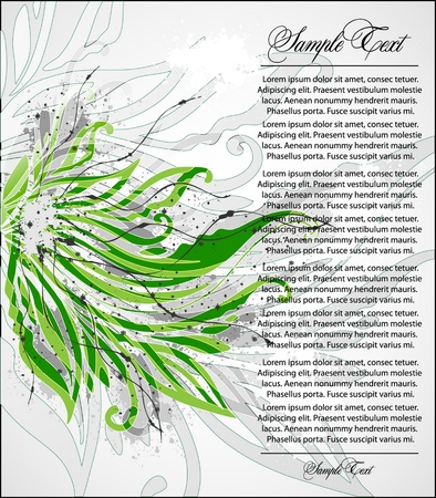 Vector green floral illustration Vector