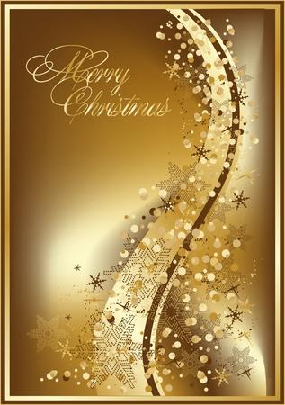 christmas deco: xmas  beautiful  gold illustration Illustration