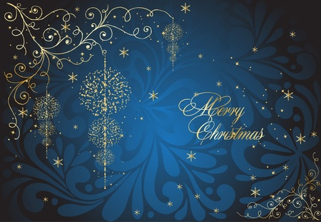 xmas abstract blue illustration Vector