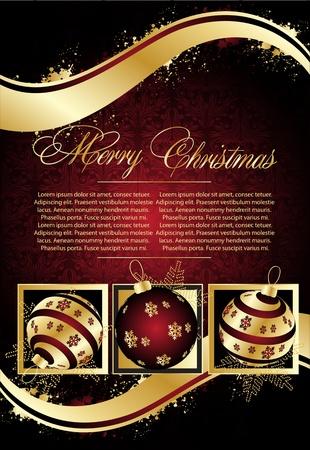 クリスマス イラストのご挨拶カード 写真素材 - 10454322