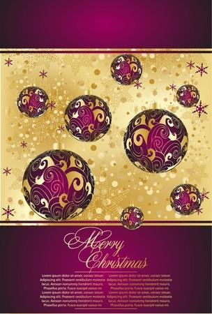 ration: xmas violet  greeting  card