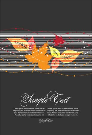autumn abstract  illustration Stock Vector - 10452332