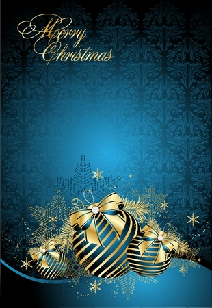festive season:  Background with christmas balls Illustration