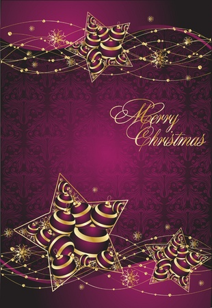 Vector violet  background on the Christmas theme