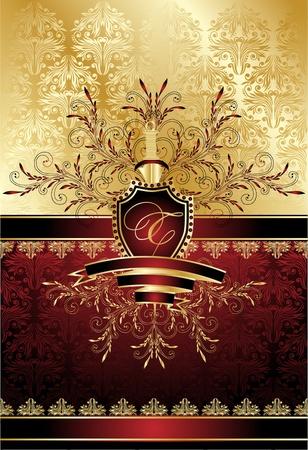 red swirl: vintage decorative illustration