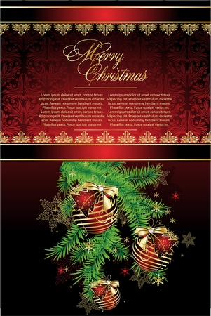 suggestive:    Merry Christmas Elegant Suggestive Background for Greetings Card Illustration