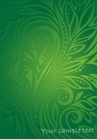 floral green background Stock Vector - 10452452