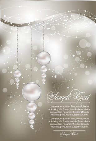 abstract illustration with pearls Vector