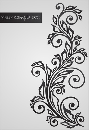 background with floral pattern Ilustração