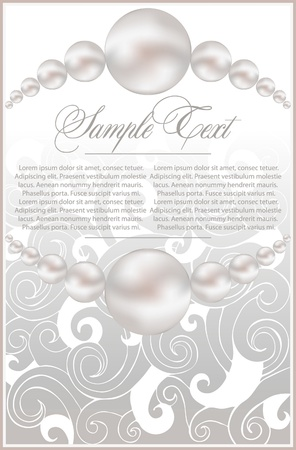 background  with realistic vector pearls Stock Vector - 10464454