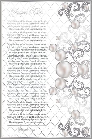 background with realistic pearls Illustration