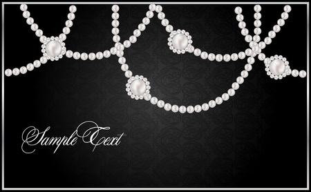 Fondo con perlas de vector realista