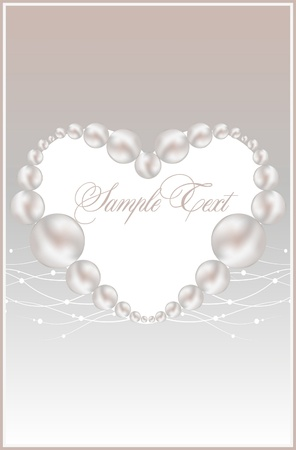 background with realistic vector pearls Stock Vector - 10464456