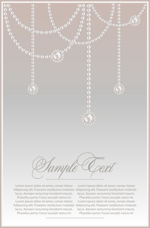 background with realistic vector pearls Stock Vector - 10464627