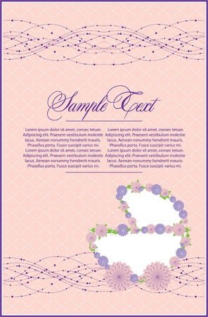 card with baby girl carriage Vector