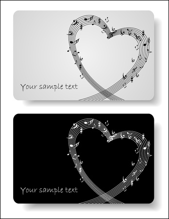 key signature: Music cards templates