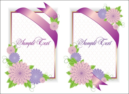 Romantic Flower Backgrounds  イラスト・ベクター素材