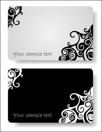 carte de visite vierge: jeu de fond abstrait pour la conception