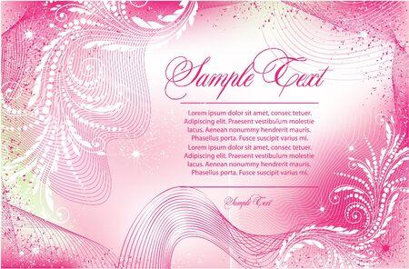 ornate swirls: floral  pinc   background
