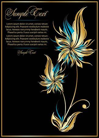 illustration for design with flower Stock Vector - 10495524