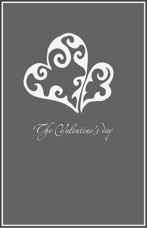 honeymoon: valentine simple illustration