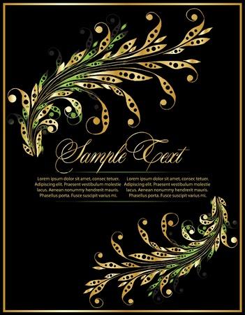 elegance flourish background with branch