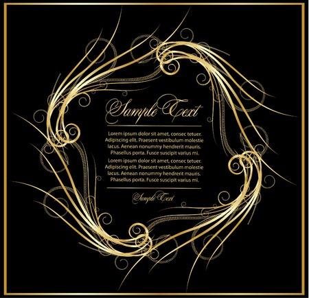 elegance flourish gold frame