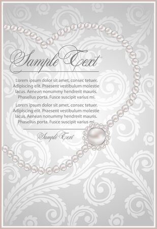 background  with realistic pearls Stock Vector - 10597897