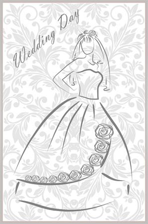 bridal dress: Abito da sposa con motivo floreale