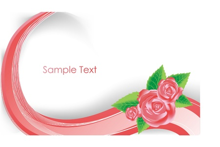 creative background with rose Vectores