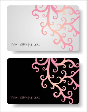 Floral cards templates Vector