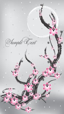 Spring flower banner Vector