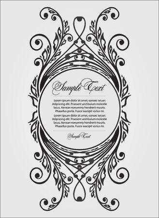 visiting card design: Vector floral  decor Illustration