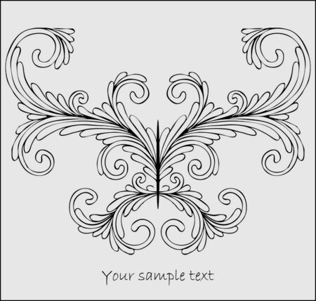 gothic design: abstract stylized  butterfly Illustration