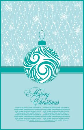 abstract xmas  illustration for design with ball Stock Vector - 10819640