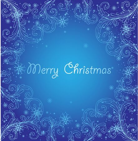 blue xmas abstract background Vector