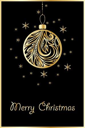 pelota caricatura: bola de oro de vectores de Navidad Vectores