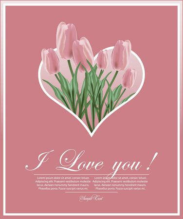 floral background for decoration with Tulips Vector