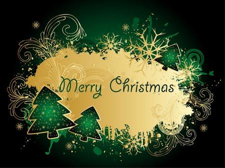 緑のクリスマス背景 写真素材 - 10819836