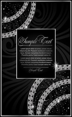 diamante negro: ilustraci�n con el Diamante