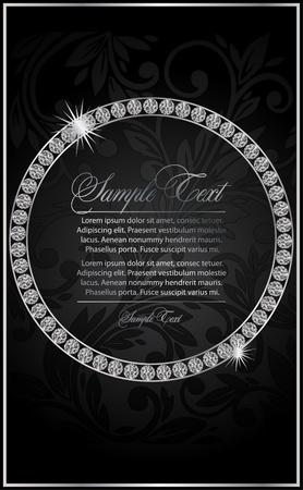 stein schwarz: Illustration mit dem Diamanten