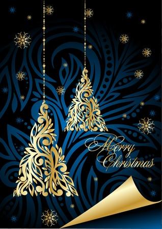 アート紫のクリスマス イラスト 写真素材 - 10912799