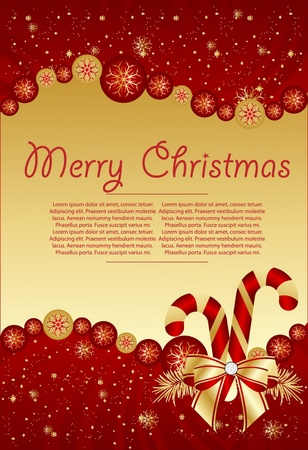 red xmas  backgraund Vector