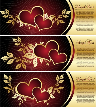 Set with Valentines design elements Vector