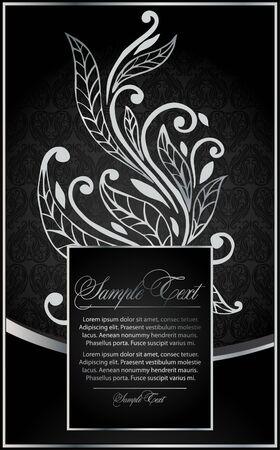 leafs: sfondo d'argento per la progettazione