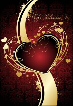 Valentine vector greeting card Vector