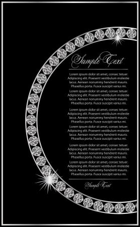 diamante negro: Vector de fondo con el diamante