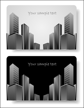 multistory: abstract corporate city buildings Illustration
