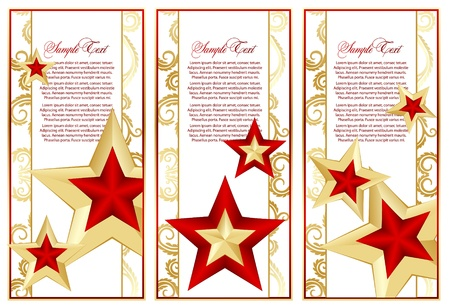 abstract set frame with stars Vector